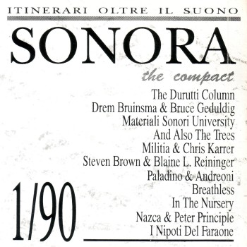 Sonora (magazine with free cd); cd front cover