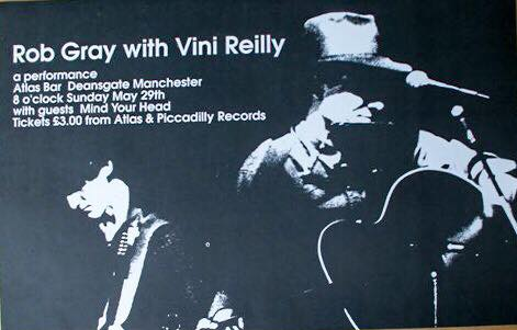 Rob Gray with Vini Reilly, Atlas Bar, Manchester, 29 May 1994