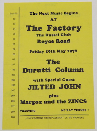 The Russell Club, Manchester, 19 May 1978