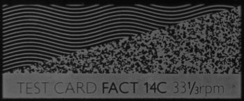 Fact 14c Test Card flexi disc by Martin Hannett