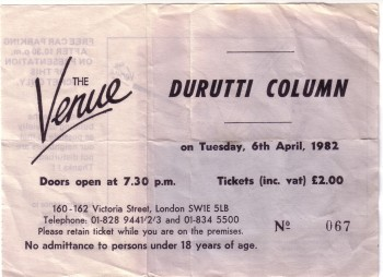 The Durutti Column - Live at The Venue